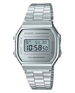 SILVER SILVER MENS ACCESSORIES CASIO WATCHES - A168WEM-7DFSILSI
