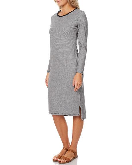 WHITE BLACK STRIPE WOMENS CLOTHING SWELL DRESSES - S8172477WHT