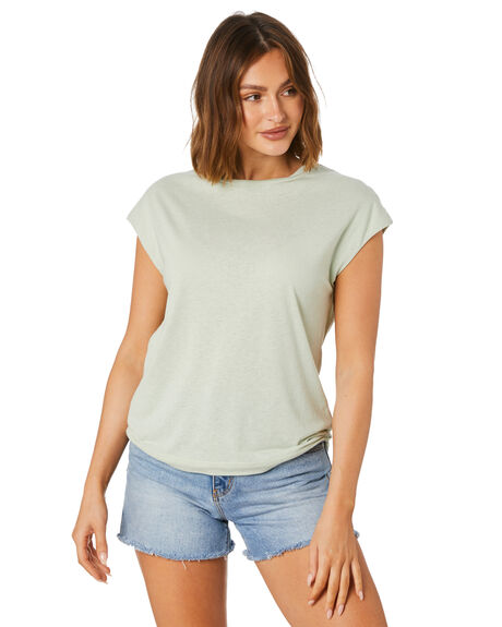 SAGE GREEN WOMENS CLOTHING SWELL TEES - S8211003SGE