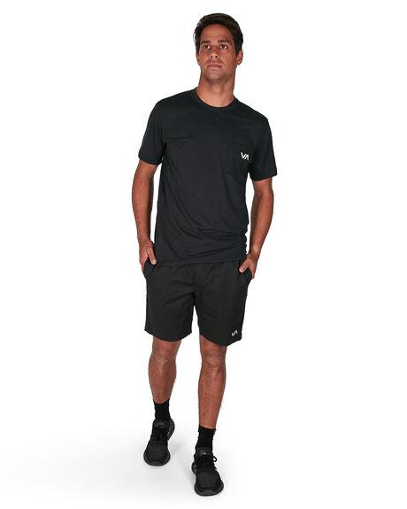 BLACK MENS CLOTHING RVCA SHORTS - RV-R107311-BLK