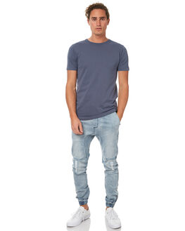 BLUE GREY MENS CLOTHING ZANEROBE TEES - 101-WANBGRY