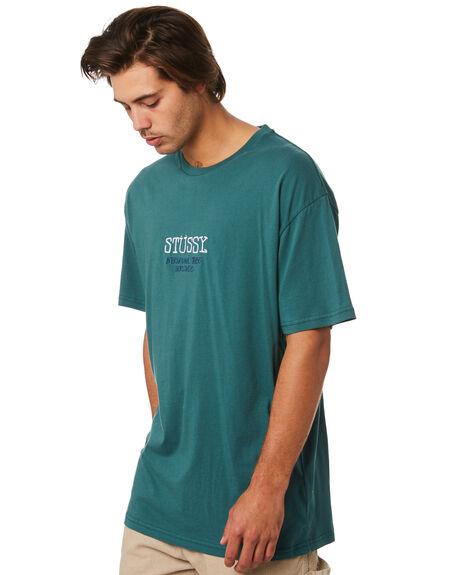 DARK TEAL MENS CLOTHING STUSSY TEES - ST096012DKTEL