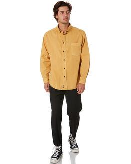 SUNLIGHT YELLOW MENS CLOTHING THRILLS SHIRTS - TS9-201KSNYEL