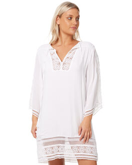 WHITE WOMENS CLOTHING RUSTY DRESSES - DRL0923WHT