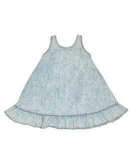 BLEACHED BLUE KIDS TODDLER GIRLS MUNSTER KIDS DRESSES - MM181DR03BLCH