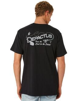 BLACK MENS CLOTHING DEPACTUS TEES - D5201001BLACK