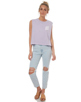 LILAC WOMENS CLOTHING RVCA SINGLETS - R271011LIL