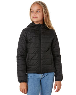 BLACK KIDS GIRLS RIP CURL JUMPERS + JACKETS - JJKAJ10090