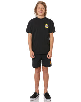 BLACK KIDS BOYS SANTA CRUZ SHORTS - SC-YBD6010BLK
