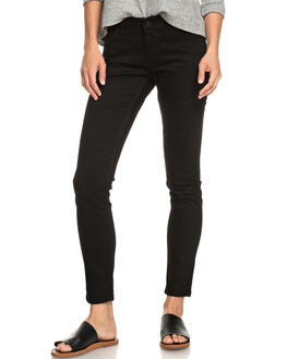 BLACK WOMENS CLOTHING ROXY JEANS - ERJDP03209-KVD0