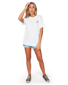 WHITE WOMENS CLOTHING BILLABONG TEES - BB-6592005-WHT