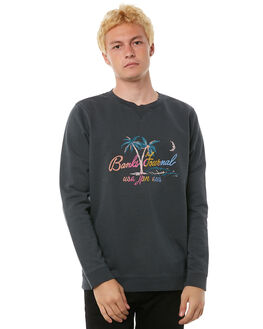 DIRTY BLACK MENS CLOTHING BANKS JUMPERS - WFL0113DBL