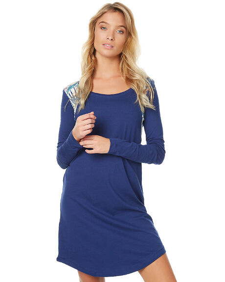 ANTHRACITE WOMENS CLOTHING ROXY DRESSES - ERJKD03104BTA0
