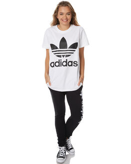 WHITE BLACK WOMENS CLOTHING ADIDAS ORIGINALS ACTIVEWEAR - BR9820WHTB