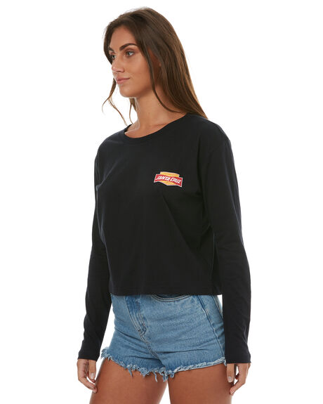 BLACK WOMENS CLOTHING SANTA CRUZ TEES - SC-WLD7487BLK