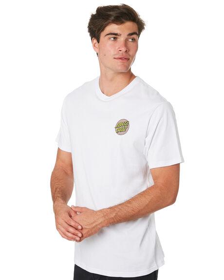 WHITE MENS CLOTHING SANTA CRUZ TEES - SC-MTC9265WHT
