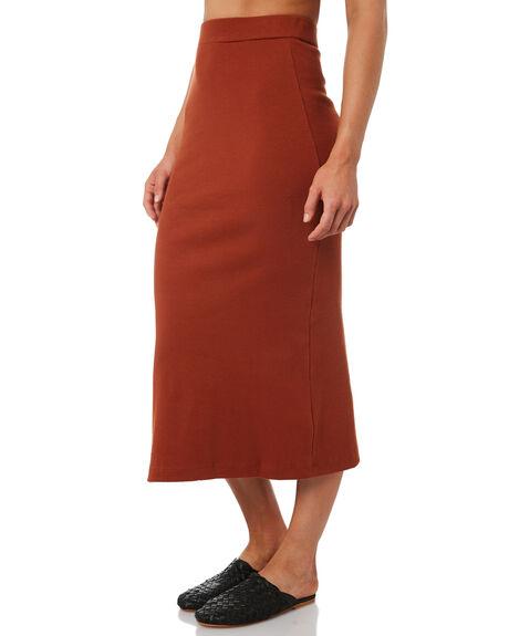 RUST WOMENS CLOTHING THRILLS SKIRTS - WTH8-301HRUST
