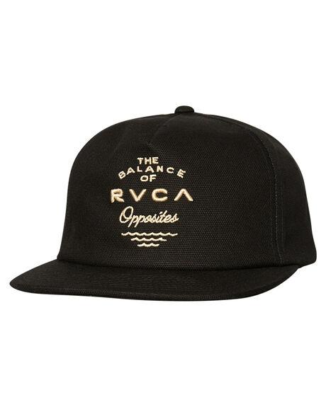 BLACK MENS ACCESSORIES RVCA HEADWEAR - R383562BLK