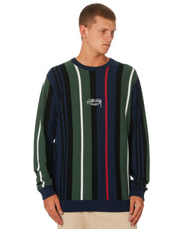 FLIGHT GREEN OUTLET MENS STUSSY KNITS + CARDIGANS - ST091301FLTGN