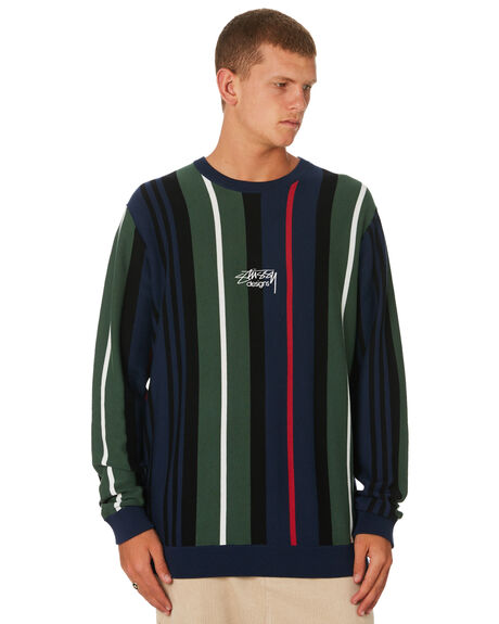 FLIGHT GREEN MENS CLOTHING STUSSY KNITS + CARDIGANS - ST091301FLTGN