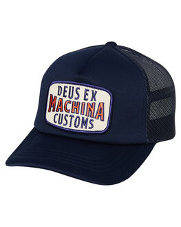 NAVY MENS ACCESSORIES DEUS EX MACHINA HEADWEAR - DMW97991NVY