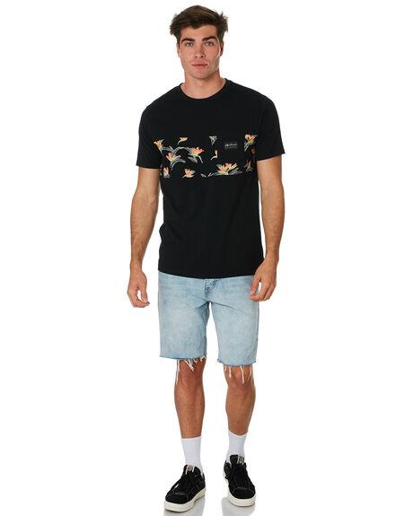 BLACK MENS CLOTHING RIP CURL TEES - CTETX20090