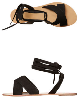 BLACK SUEDE WOMENS FOOTWEAR BILLINI FASHION SANDALS - S483BLKSD