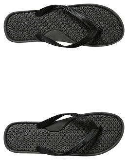 BLACK CHAR MENS FOOTWEAR KUSTOM THONGS - 4977200ABKCHA