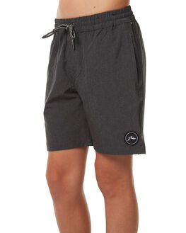 BLACK KIDS BOYS RUSTY BOARDSHORTS - BSB0323BLK