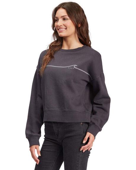 ANTHRACITE WOMENS CLOTHING ROXY HOODIES + SWEATS - ARJFT03899-KVJ0