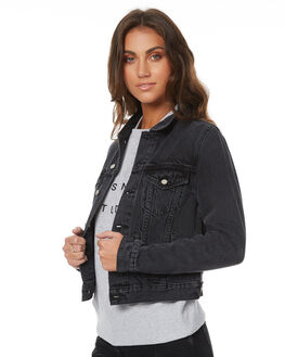 AGED BLACK WOMENS CLOTHING ASSEMBLY JACKETS - AJF-W1571ABLK