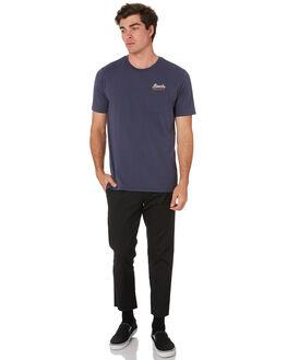 WASHED NAVY MENS CLOTHING BRIXTON TEES - 06726WANAV