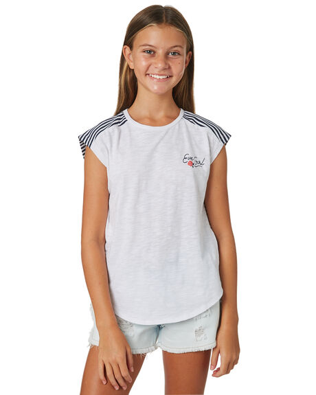 WHITE KIDS GIRLS EVES SISTER TOPS - 9920106WHT