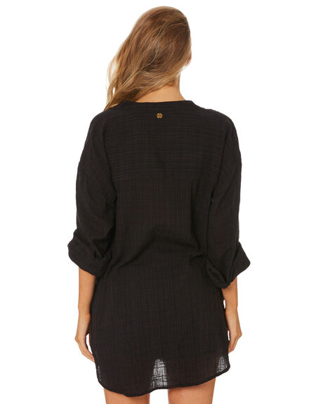 BLACK WOMENS CLOTHING RIP CURL FASHION TOPS - GSHEB90090