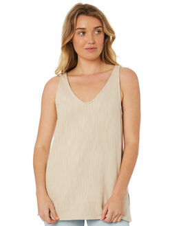BEIGE OUTLET WOMENS WILDE WILLOW FASHION TOPS - K378BEI