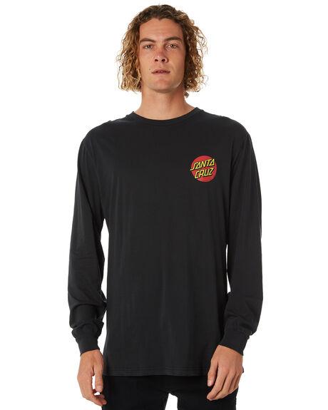 BLACK MENS CLOTHING SANTA CRUZ TEES - SC-MLB8881BLK