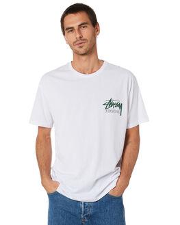 WHITE MENS CLOTHING STUSSY TEES - ST092001WHT