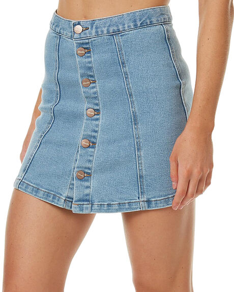 STONE BLUE WOMENS CLOTHING AFENDS SKIRTS - 52-03-049STB
