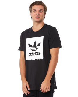BLACK BLACK MENS CLOTHING ADIDAS TEES - CW2339BLK