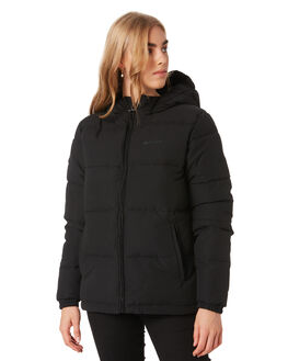 BLACK WOMENS CLOTHING HUFFER JACKETS - WPJA02S1801BLK