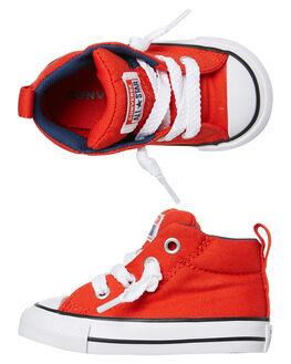 HABANERO RED KIDS BOYS CONVERSE FOOTWEAR - 765134CHRED