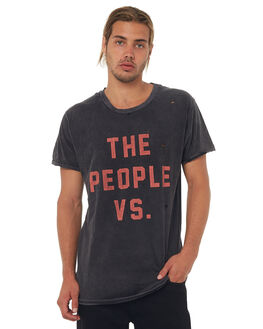 BLACK MENS CLOTHING THE PEOPLE VS TEES - W17004-BLK