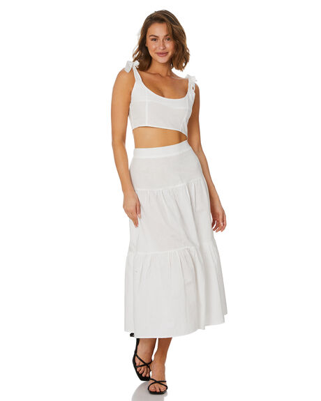 WHITE WOMENS CLOTHING MINKPINK FASHION TOPS - MG2104415WHT