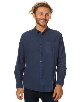 SULPHUR NAVY MENS CLOTHING ROLLAS SHIRTS - 201082715