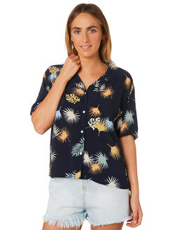 MIDNIGHT FLORAL WOMENS CLOTHING COOLS CLUB FASHION TOPS - 309-CW1MID