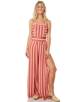DUSTY CORAL IVORY WOMENS CLOTHING BAND OF GYPSIES PANTS - WR350734-1535RSTP
