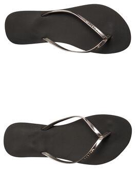 BLACK WOMENS FOOTWEAR RUSTY THONGS - FOL0360BLK