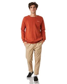 RUST MENS CLOTHING RHYTHM JUMPERS - JAN20M-FL01-RUS