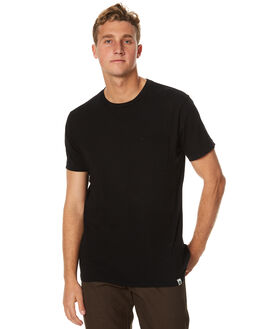 BLACK MENS CLOTHING OURCASTE TEES - K10009