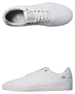 WHITE MENS FOOTWEAR EMERICA SKATE SHOES - 6102000096-100